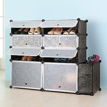 Captivating Shoe Rack Boot Storage Cabinet By KOUSI DIY Grid Organizer With Bin  Capacious U0026 Sturdy,