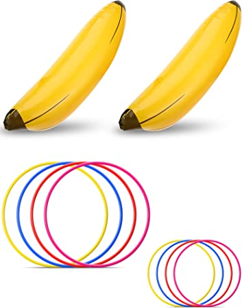 Amazon.com: Norme - Juego de 10 piezas de banana inflable ...
