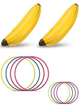 Norme 10 Piezas de Plátano Inflable Juego de Fiesta de ...