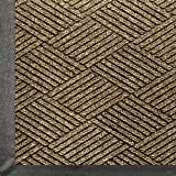 Andersen 2295 WaterHog Eco Premier PET Polyester Fiber Entrance Indoor/Outdoor Floor Mat, SBR Rubber Backing, 8.4' Length x 3' Width, 3/8'' Thick, Khaki