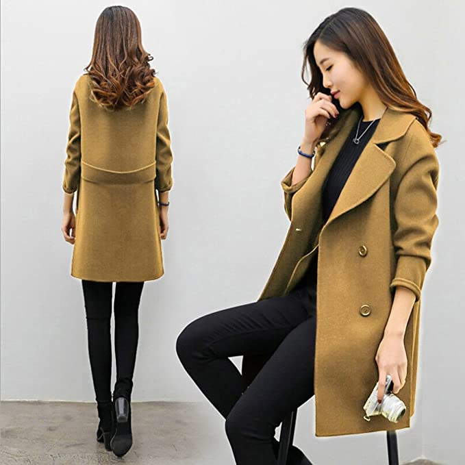 Amazon.com: Hemlock Long Office Cardigans Women, Women Lapel Cardigan Coat Winter Slim Parka Overcoat Jackets (L, Coffee): Kitchen & Dining