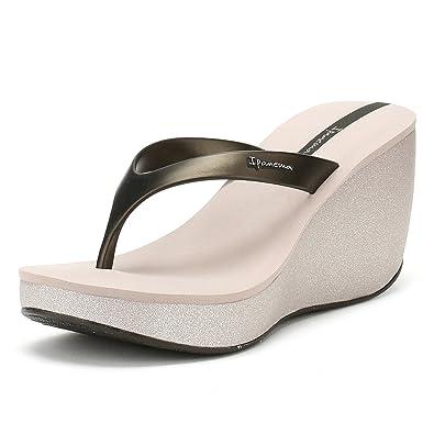 e83b1f5fd26 Ipanema Womens Black Bolero Wedge Flip Flops  Amazon.co.uk  Shoes   Bags