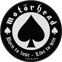Motörhead Born To Lose Unisex Parche negro-blanco, 100% poliéster,
