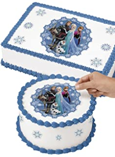 Amazoncom Disney Frozen Edible Image Cake Toppers Frosting Sheets