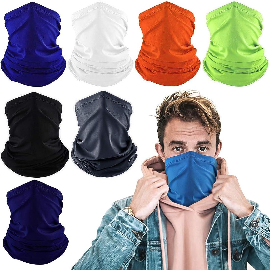Konikit Neck Gaiter Cooling Face Covering for Men Women Summer Neck Gator Face Mask for Dust Outdoors