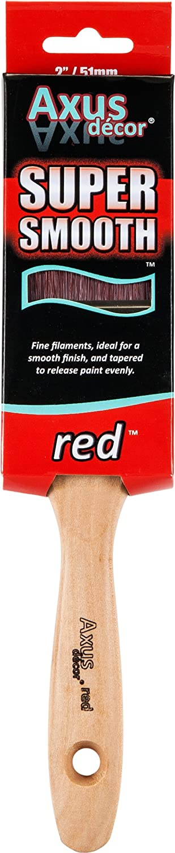 color rojo Juego de brochas Axus D/écor Super Smooth 3 unidades