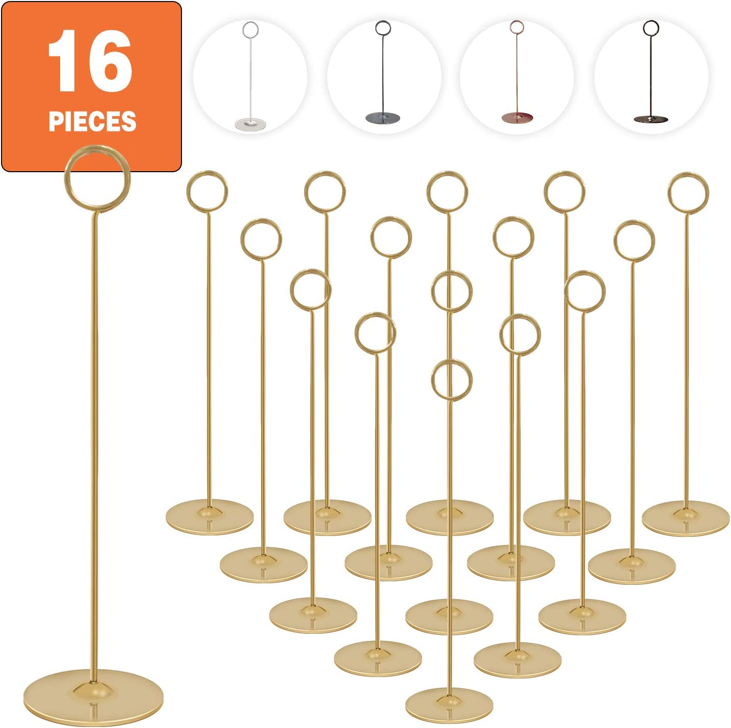 Silver,Pack of 24 HOHIYA Table Top Wire Place Card Holder Stand Memo Note Recipe Centerpieces Number Dinner Home Party Wedding Birthday Favor Restaurants Decoration
