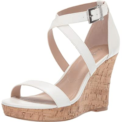 CHARLES BY CHARLES DAVID Launch Wedge Sandal White 5.5 | Platforms & Wedges