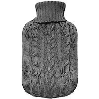TRIXES Gebreide Hoes Voor Warme Kruik - Grijs Gebreide Isolator - Enkel de hoes (Warme Kruik niet inbegrepen)