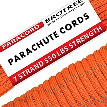 Brotree 31m Paracord Cuerda de Paracaídas de Nylon 550 lbs 7 Resistentes Hebras de Fibra Poliéster para Escalada Kit de Supervivencia Acampada (Estándar, ...