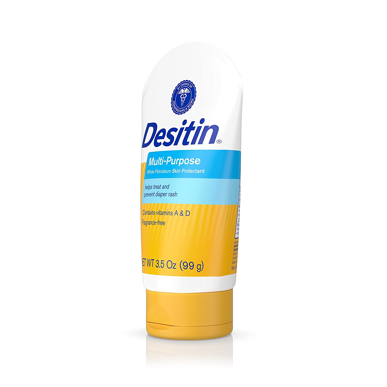 Amazon.com: Desitin Skin Protectant And Diaper Rash Ointment Multi-Purpose  With Vitamins A & D, Travel Size, 3.5. Oz Tube: Health & Personal Care