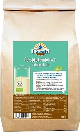 erdschwalbe proteína de arroz – Bio. Bolsita de 1 kg.: Amazon ...