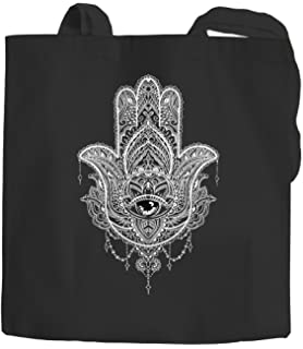 Yute bolsa Mandala étnico Boho Algodón Funda Bolsa De Tela bolsa Autiga, Mandala 1 Natur-schwarz, talla única: Amazon.es: Hogar