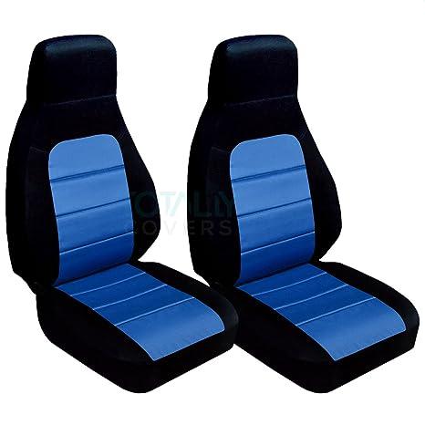 Designcovers 1990 to 1998 Mazda Miata Seat Covers 12 Color Option Black-Miata in Red