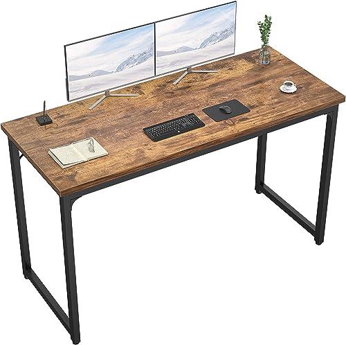 Foxemart 55 Inch Computer Desk Modern Sturdy Office Desks 55 PC Laptop Notebook Study Writing Table