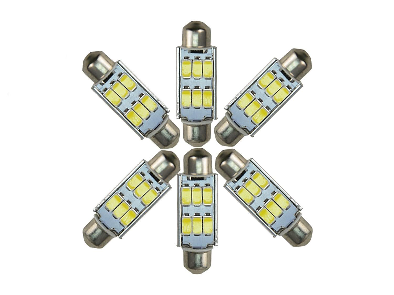 njytouch 6/x 38/mm 6SMD 5630/211/blanco fr/ío Festoon domo mapa interior bombillas LED Canbus con 7/tipo color