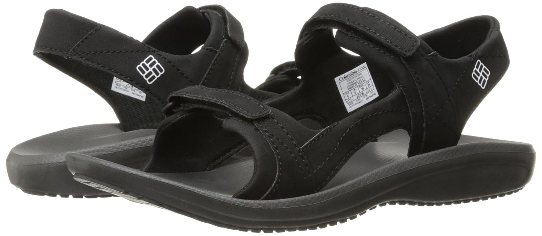 Columbia Women's BarracaSunlight Athletic Sandal B01HEHNW42 7 B(M) US Black, White