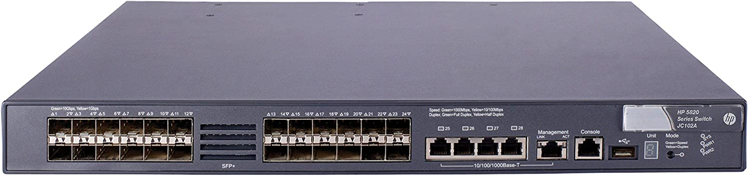 HPE 5820X 24x10Gb SFP+ 4x1b Port Switch - JC102B