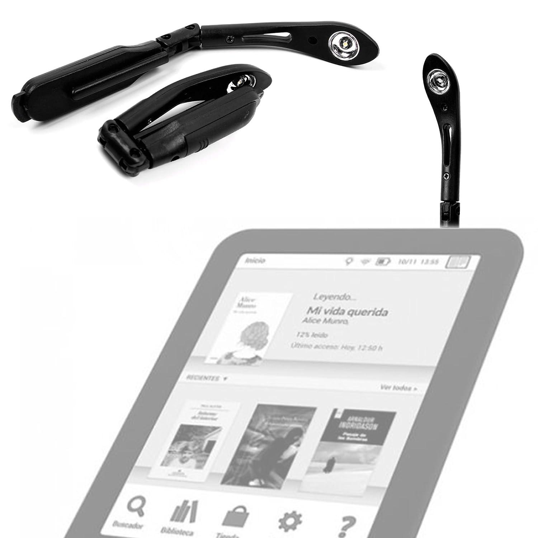 DURAGADGET Luz LED De Lectura para Libro electronico eReader Tagus ...