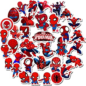 Spider-Man Stickers for Kids,Superhero Stickers for Water Bottle Hydro Flask MacBook Car Bike Bumper Skateboard Luggage