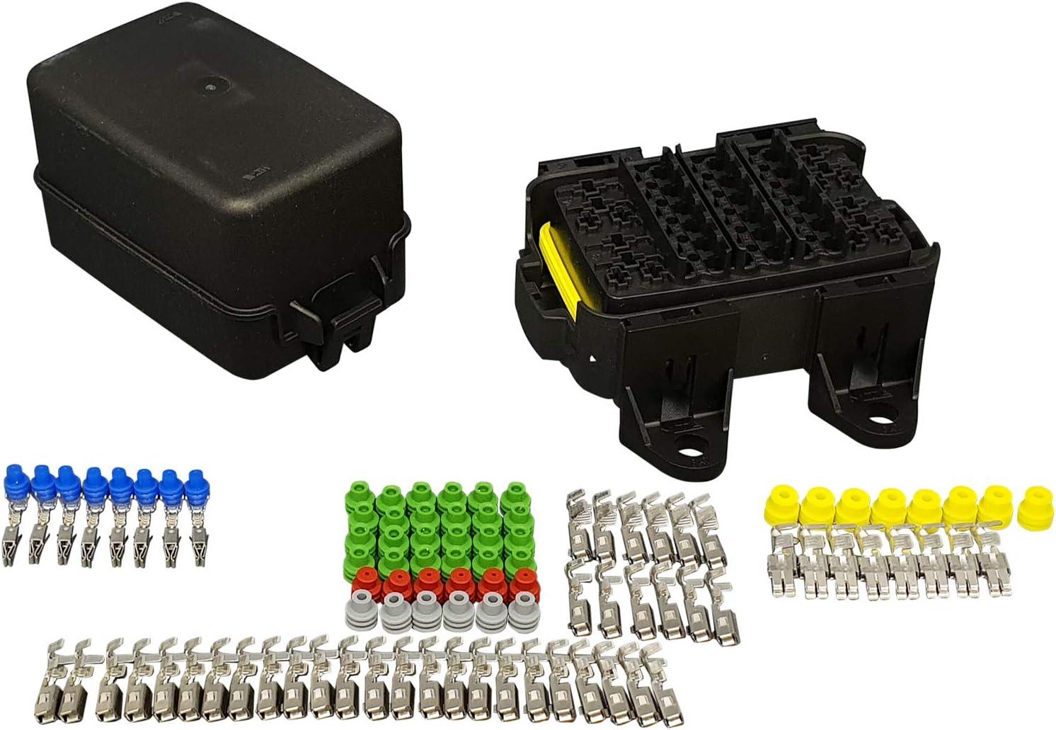 amazon.com: mta waterproof sealed fuse and relay holder box panel ... mta relay fuse box  amazon.com