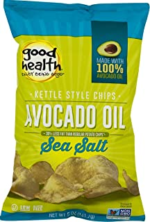 product image for Good Health Avocado Oil Kettle Style Chips with Sea Salt 5 oz. Bag (4 Bags)