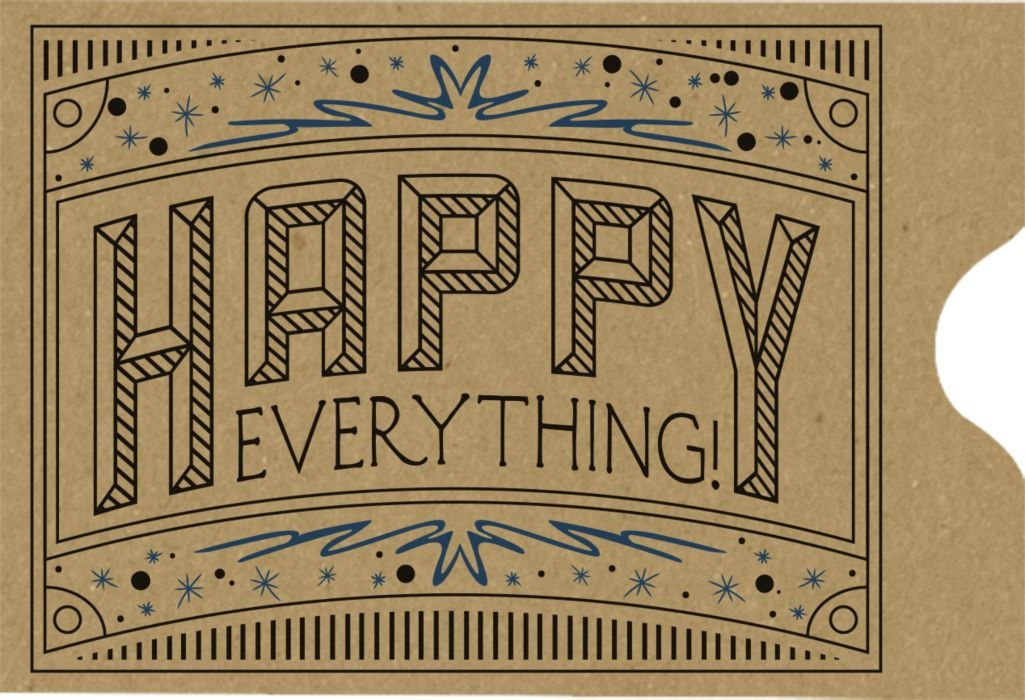 Credit Card Sleeve (2 3/8 x 3 1/2) - Happy Everything (500 Qty.) | Perfect for the HOLIDAYS, Gift Cards, Credit Cards, Debit Cards, ID Cards and More! | 1801-GBHE-500 Envelopes.com