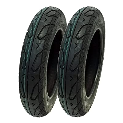 SET OF TWO: Tire Size 3.00 - 10 Tubeless Front/Rear Motorcycle Scooter Moped