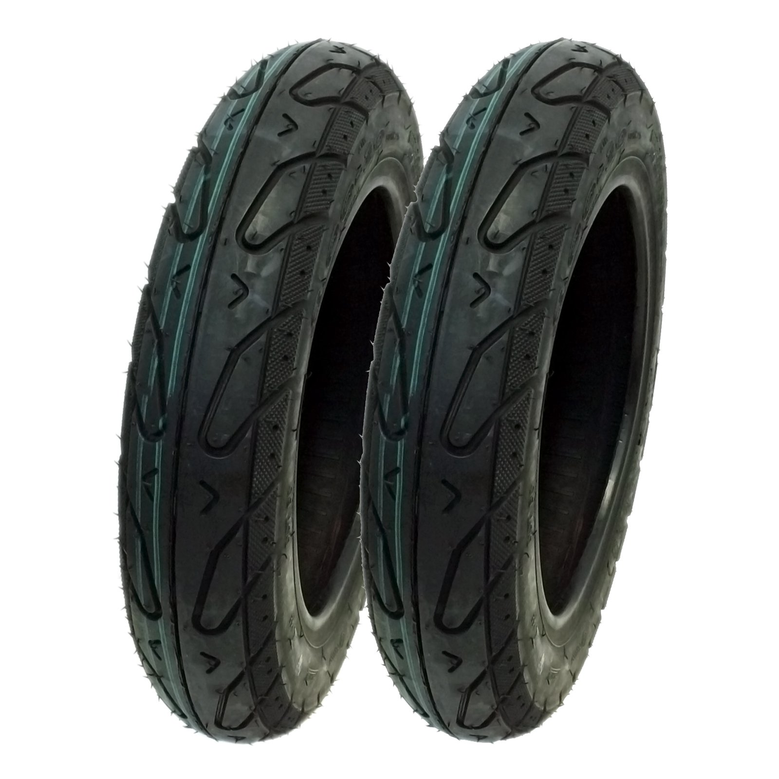 MMG Set of 2 Tires Size 3.00-10 Tubeless Front or Rear Motorcycle Scooter Moped by MMG