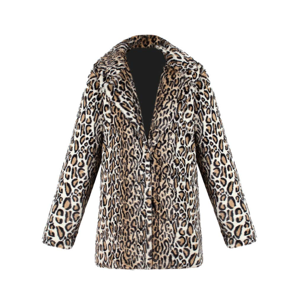 Amazon.com: Gallity Winter Coat Women,Womens Leopard Faux Fur Coat Jacket Retro Winter Parka Outerwear Jacket (S, Black): Garden & Outdoor