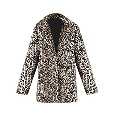 0eed73c50250f vpass Ladies Womens Leopard Print Coat Quilted Winter Warm Faux Fur Padded  Overcoat Cardigan Parka Thicker Fleece Outerwear Jacket  Amazon.co.uk   Clothing