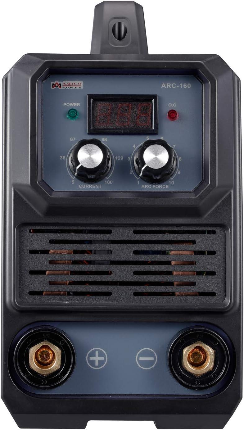 160 Amp Pro 80/% Duty Cycle Amico ARC-160 Stick Arc DC Inverter Welder 100~250V Wide Voltage Welding Machine