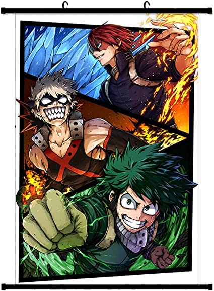 60*90cm Anime Boku no hero academia My Hero Academia Wall Scroll Poster