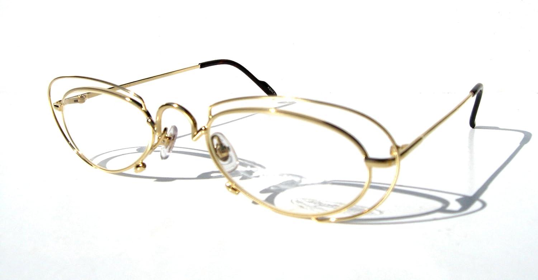 77f2c7b8635 Amazon.com   8007 SATURN RING Design GOLD Oval KOURE EYEGLASSES Eyeglass  Frames   Mens and Womens Glasses  Clothing