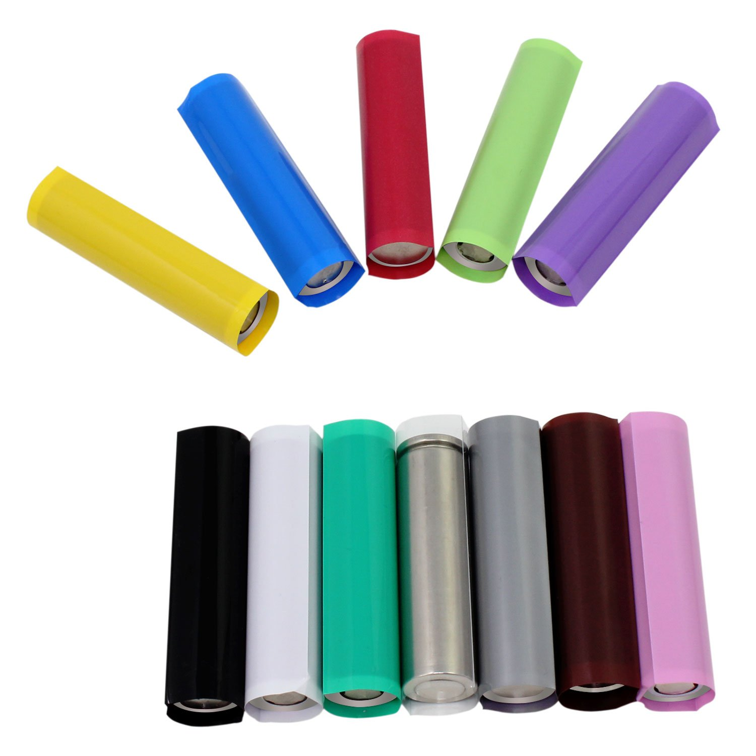 OCR Flat PVC Heat Shrink Tubing Battery Wrap for 1 x 18650 Battery 300PCS(29.5mm12 Colors) by OCR (Image #4)