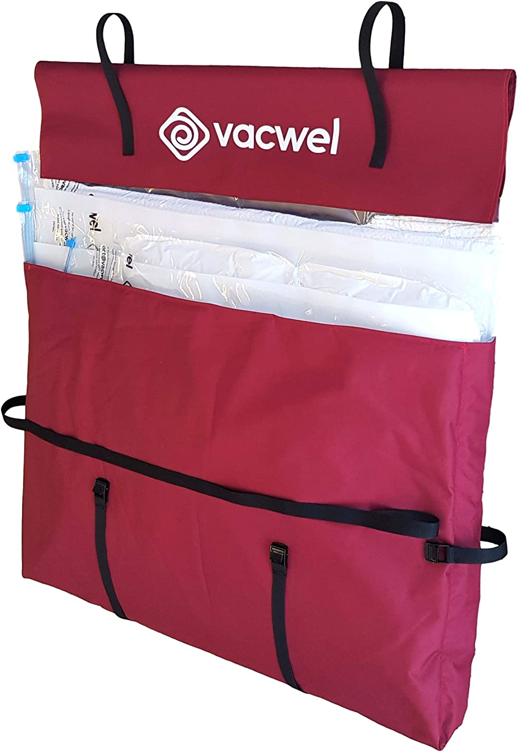 Vacwel Packing & Moving Supplies XL Storage Bags for Home Moves, Dorm Room Space Saving & Vacuum Storage Bag Protection (Marone, Envelope Style)