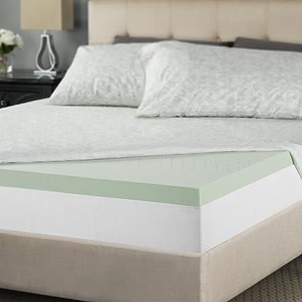 b723e14439 Amazon.com: Zinus 2 Inch Green Tea Memory Foam Mattress Topper, Queen: Home  & Kitchen
