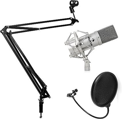 Set de estudio - Micrófono USB, brazo - soporte para mesa y filtro ...