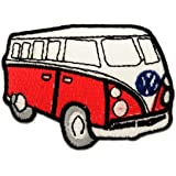 Vw Escarabajo Bus Red Retro Hippie Patch '7,5 x 5 cm' - Parche Parches Termoadhesivos Parche Bordado Parches Bordados Parches Para La Ropa Parches La Ropa Termoadhesivo Apliques Iron on Patch Iron-On Apliques