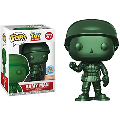 Funko Pop! Disney #377 Toy Story Metallic Army Man (Box Lunch Exclusive/Toy Story Land Grand Opening): Toys & Games