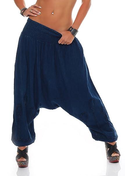 Mujer Harén Pantalón Yoga aladi ancho de pantalón pluder ...