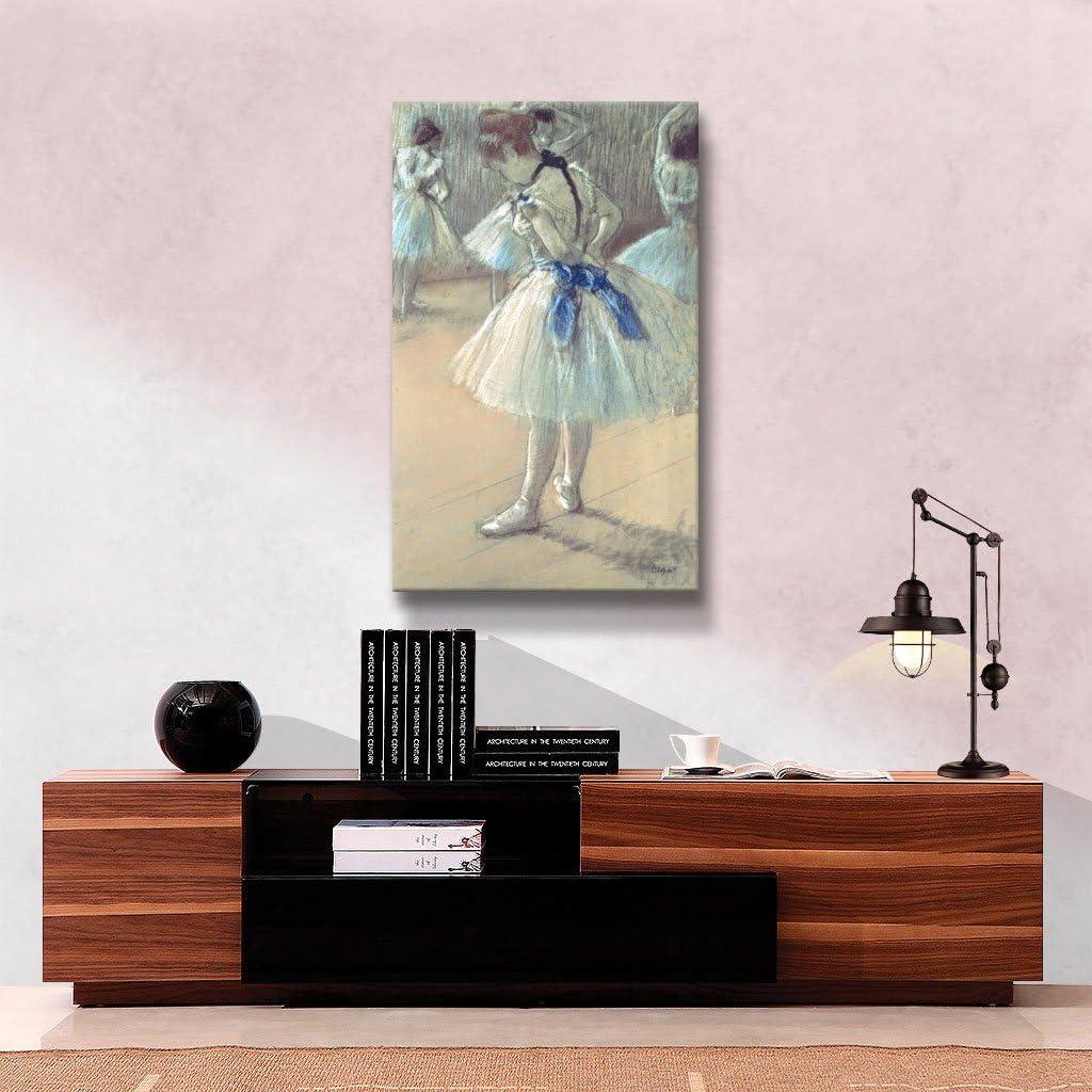 ArtWall Dancer Unwrapped Flat Canvas Artwork by Edgar Degas 22 by 36-Inch Art Wall degas-012-18x32
