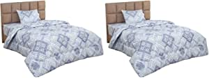 Bed and Bed Geometric Pattern Quilt Set, 220x180 cm - 4 Pieces