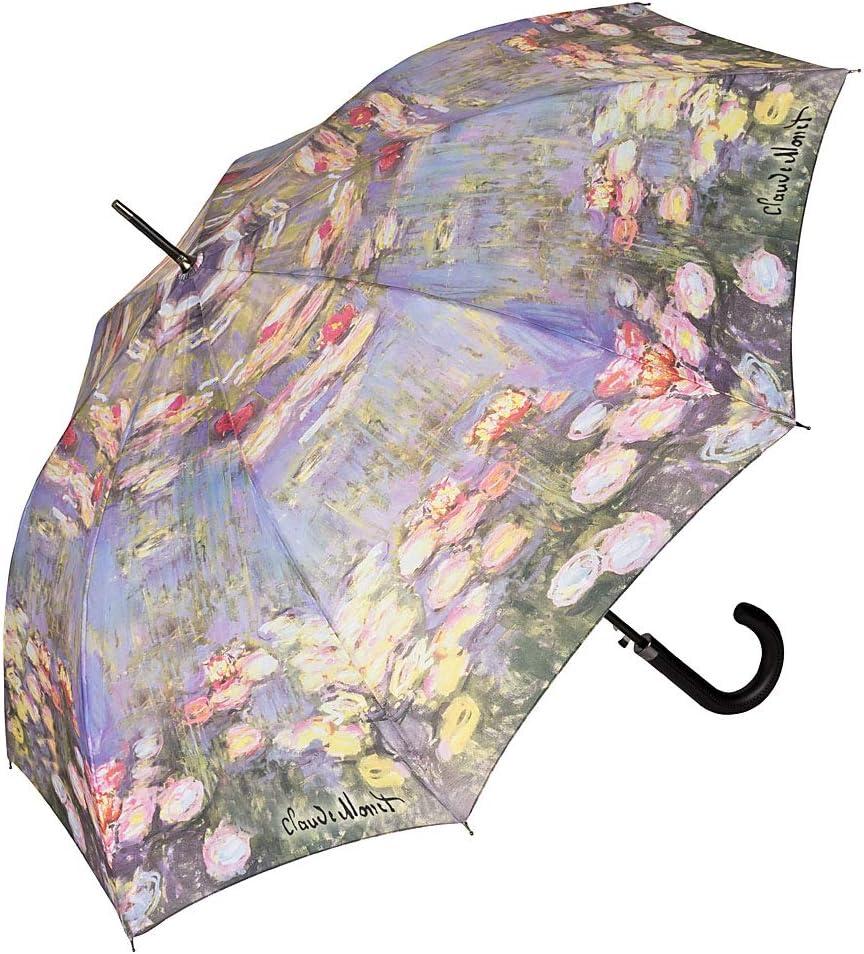 VON LILIENFELD Paraguas Largo Automático de Alta Calidad Grande Estable Clàsico Arte Claude Monet: Nenúfar: Amazon.es: Equipaje