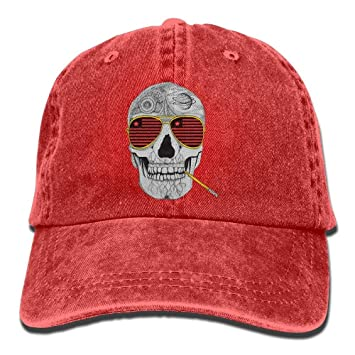 d6186b1918d91 Sdltkhy Gonzo crâne Adulte Chapeau de Cowboy Casquette de Baseball réglable  athlétique Faire personnalisé Chapeau à