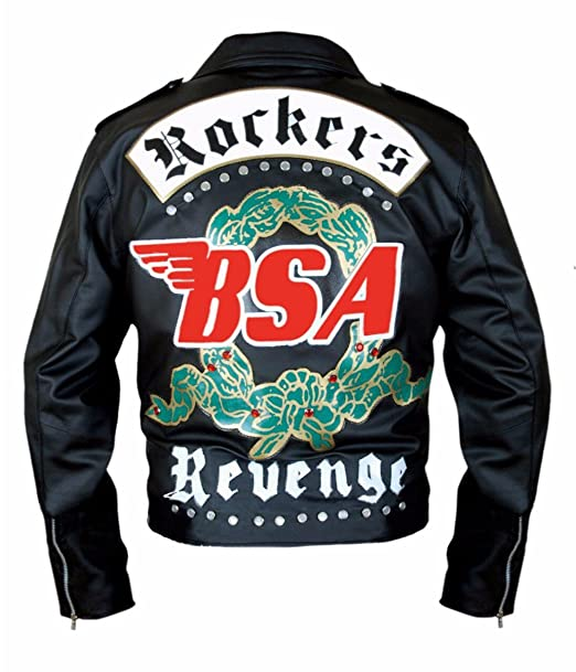 Leatherly Chaqueta de hombre BSA George Michael Faith Rockers Revenge Motociclista Estilo moto Genuine chaqueta de cuero negro- 5XL: Amazon.es: Ropa y ...