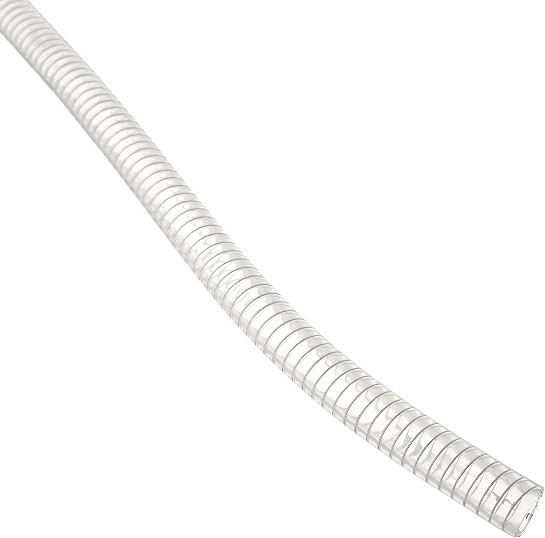 Duda Energy STpvc050-010ft 10' x 1/2 ID Steel Wire Suction PVC Flexible Tubing High Pressure Heavy Duty UV Chemical Resistant Vinyl Hose
