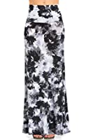 Azules Women's Poly Span Multiple Selection Print Maxi Skirt-made in USA …