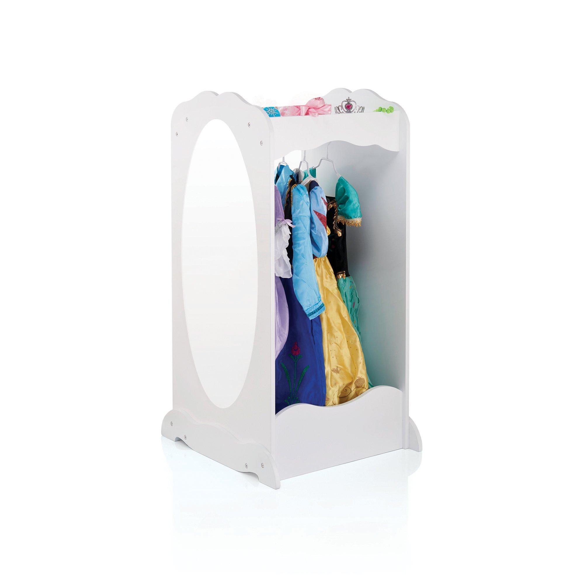 Guidecraft Dress Up Center with Mirror White - Armoire, Dresser Kids' Furniture