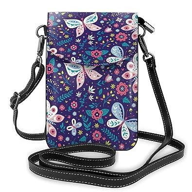 New Ladies Small Printed Multiple Pockets Crossbody Messenger Bag